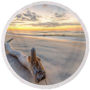 Dawn At The Key Round Beach Towel