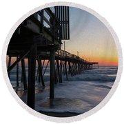 Dawn Begins Round Beach Towel