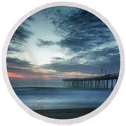 Dawn Breaking Through Round Beach Towel
