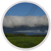 Dawn Clouds In The Southwest Round Beach Towel