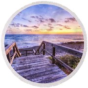 Dawn Colors Round Beach Towel