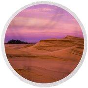 Dawn Dunes Round Beach Towel