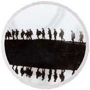 Dawn March Round Beach Towel by Private Collection