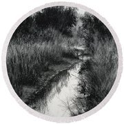 Dawn Marsh Round Beach Towel