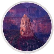 Dawn Mount Hayden Point Imperial North Rim Grand Canyon National Park Arizona Round Beach Towel by Dave Welling