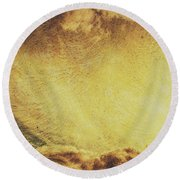 Dawn Of A New Day Texture Round Beach Towel