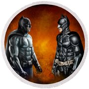 Dawn Of The Dark Knight Round Beach Towel