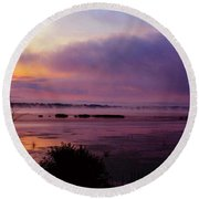 Dawn On The Mississippi Round Beach Towel