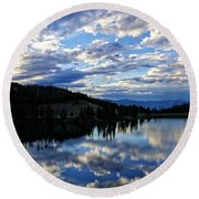 Dawn Over Big Sky Round Beach Towel