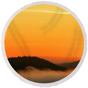 Dawn Over Clouds Round Beach Towel