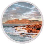 Dawn Over Simons Town South Africa Round Beach Towel