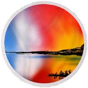 Dawn Twilight Round Beach Towel