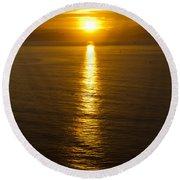 Dawns Beacon Round Beach Towel