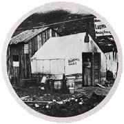 Dawson City, C1900 Round Beach Towel
