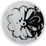 Day And Night I Round Beach Towel