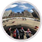 Day At The Park Round Beach Towel