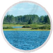 Day At The Wetlands Round Beach Towel