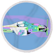 Day Flight Round Beach Towel