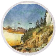 Day Is Done 2015 Round Beach Towel