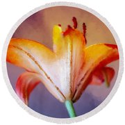Day Lily Back Round Beach Towel