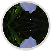 Day Lily Reflection Round Beach Towel
