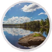 Day Of September Round Beach Towel