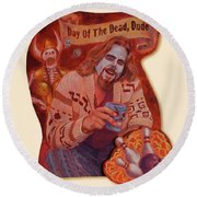 Day Of The Dead Dude Round Beach Towel
