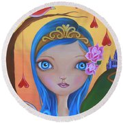 Day Of The Dead Princess Round Beach Towel