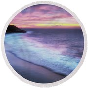 Daybreak At Caswell Bay Round Beach Towel