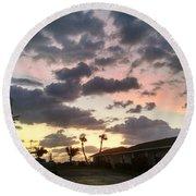 Daybreak Sky In Florida Round Beach Towel