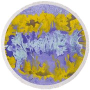 Daydreaming Round Beach Towel