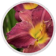 Daylily 2 Round Beach Towel