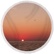 Day's End Lake Michigan Round Beach Towel