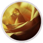 Days Of Golden Rose Round Beach Towel