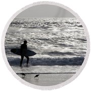 Days Of Summer Round Beach Towel