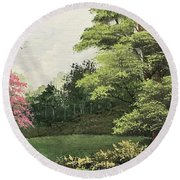 Daytime Color Round Beach Towel