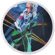 Dazed And Confused Round Beach Towel