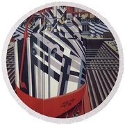 Dazzle Ships In Drydock At Liverpool Round Beach Towel