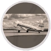 Dc-3 Vintage Look Round Beach Towel