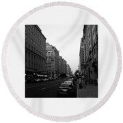 Dc Afternoons Round Beach Towel