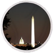 Dc Monuments Triumvirate Round Beach Towel