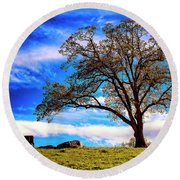 De Hoek Farm Round Beach Towel