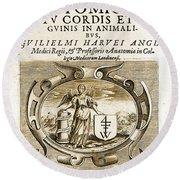 De Motu Cordis, Title Page, William Round Beach Towel