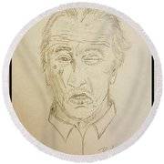 De Niro  Round Beach Towel