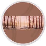 Dead Forest Round Beach Towel