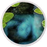 Dead Girl In The Pool Round Beach Towel