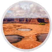 Dead Horse Pools Round Beach Towel