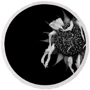 Ballet Flower Round Beach Towel