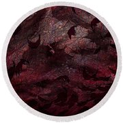 Dead Leaves Round Beach Towel