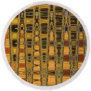 Dead Tree Abstract Round Beach Towel